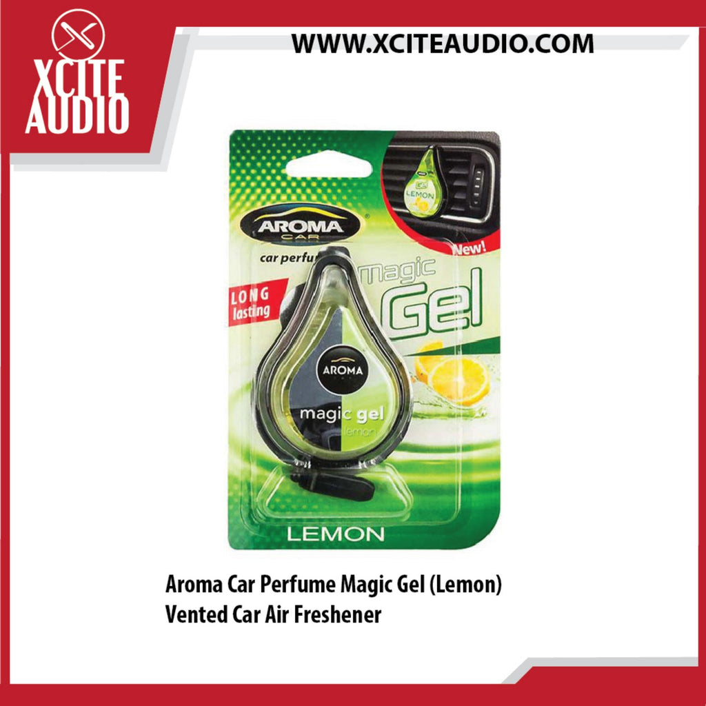 Aroma Car Perfume Magic Gel (Lemon) Vented Car Air Freshener - Xcite Audio