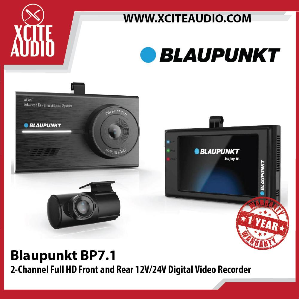 Blaupunkt BP7.1 2-Channel Full HD Front and Rear 12V/24V Digital Video Recorder Car Recorder - Xcite Audio