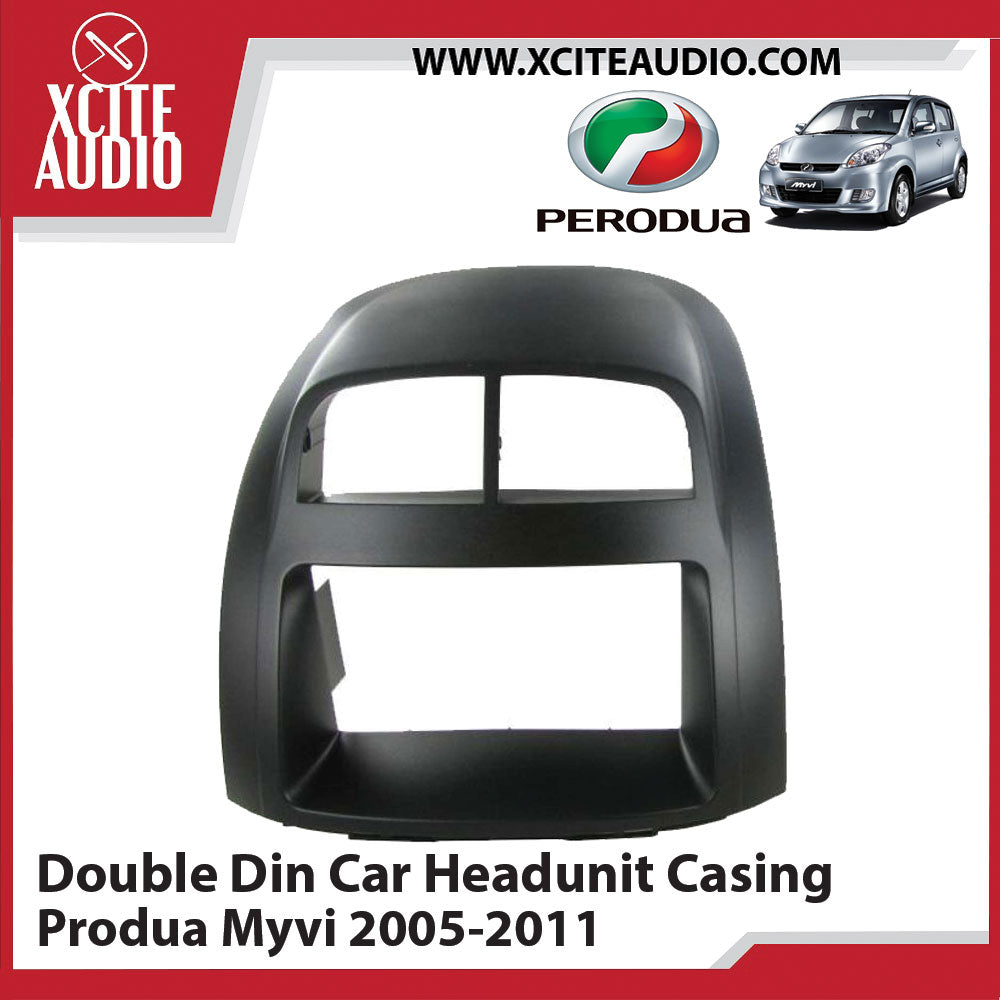 Perodua Myvi 2005-2011 Double Din Car Headunit / Player / Stereo Audio Casing Panel - Xcite Audio