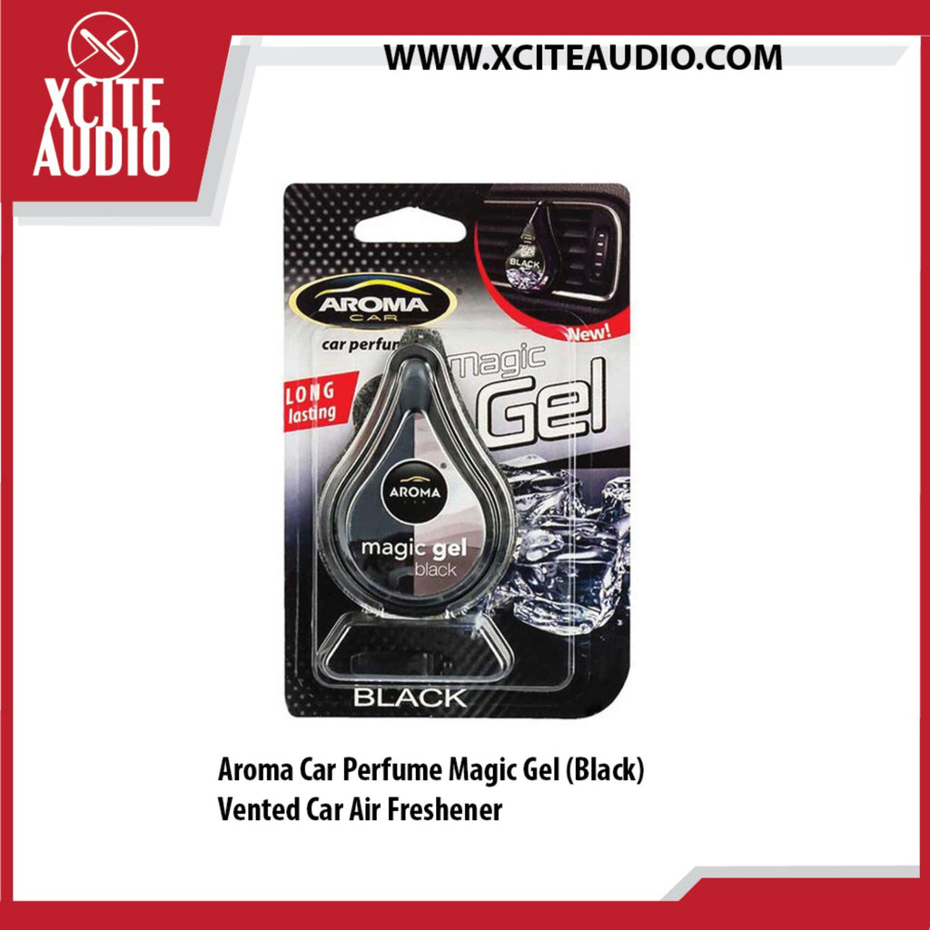 Aroma Car Perfume Magic Gel (Black) Car Air Freshener - Xcite Audio
