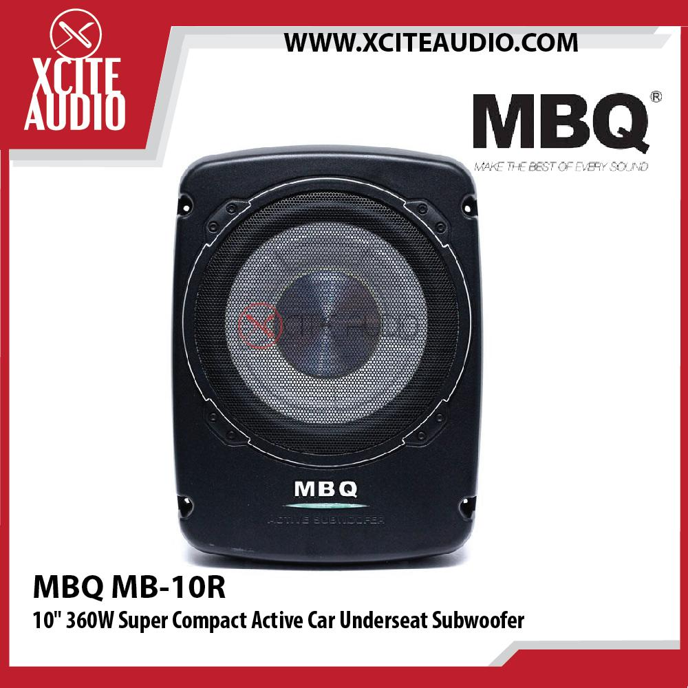 MBQ MB-10R 10  360W Super Compact Active Car Underseat Subwoofer