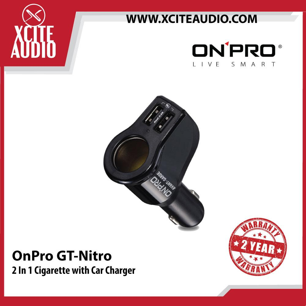 OnPro GT-Nitro Engine Ignition Protection 2 In 1 Cigarette with Car Charger - Xcite Audio