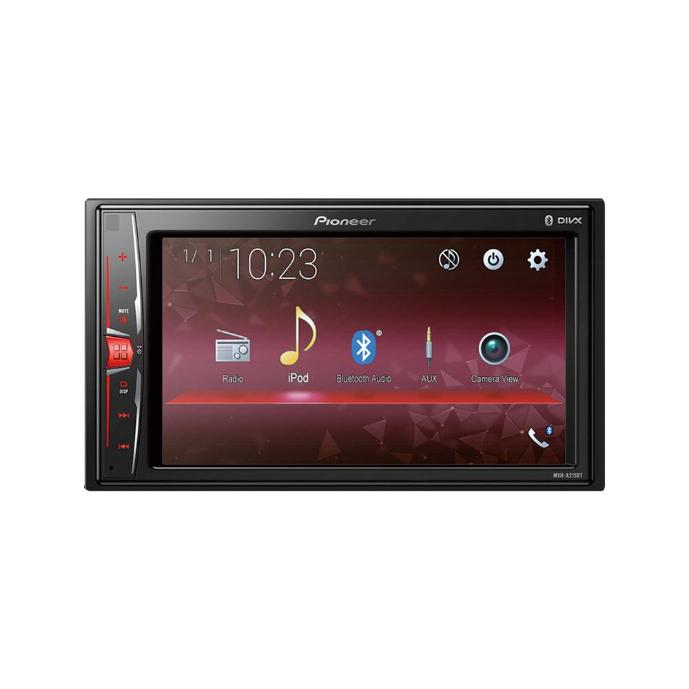 "Pioneer MVH-A215BT 6.2"" Double-Din WVGA Touchscreen Display AV Receiver Built-in Bluetooth Direct Control for iPod/iPhone and Certain Android Phones Car Headunit - Xcite Audio"