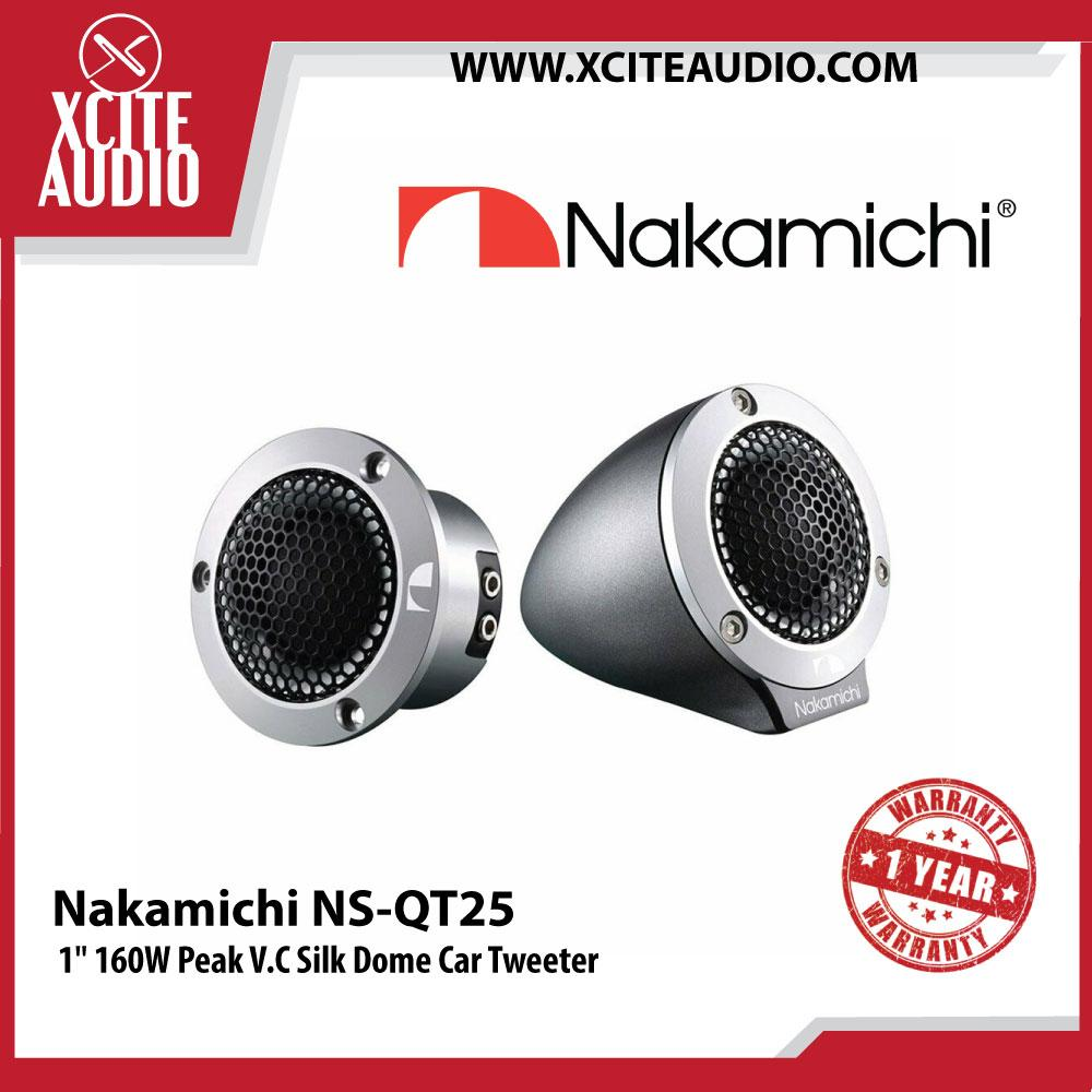 "Nakamichi NS-QT25 1"" (25mm) 160W Peak V.C Silk Dome Car Tweeters"