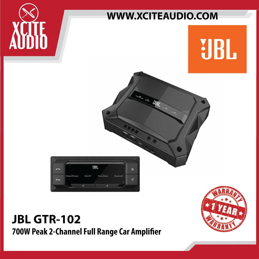 JBL GTR-102 700W Peak 2-Channel High Performance Full Range Car Amplifier - Xcite Audio