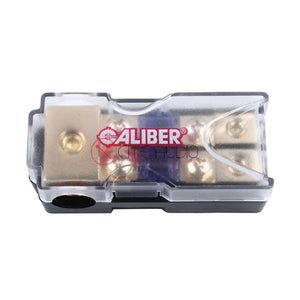 Caliber 3024 MANL 0/4/2/8 Gauge Power Cable 1 To 2 Fuse Holder With 60A Fuse - Xcite Audio