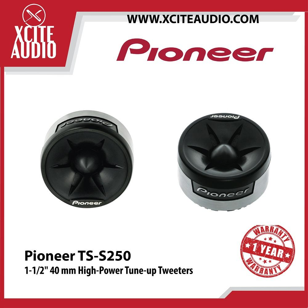 "Pioneer TS-S250 1-1/2""  40 mm High-Power Tune-up Car Tweeters"