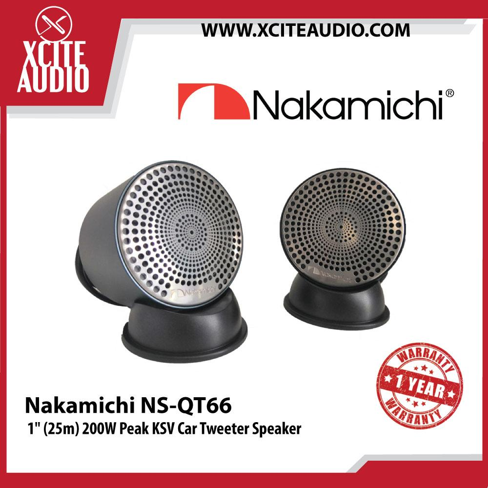 "Nakamichi NS-QT66 1"" (25m) 200W Peak KSV Car Tweeters"