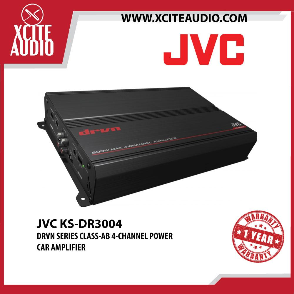 JVC KS-DR3004 DRVN Series 800W Class-AB 4-Channel Power Car Amplifier - Xcite Audio