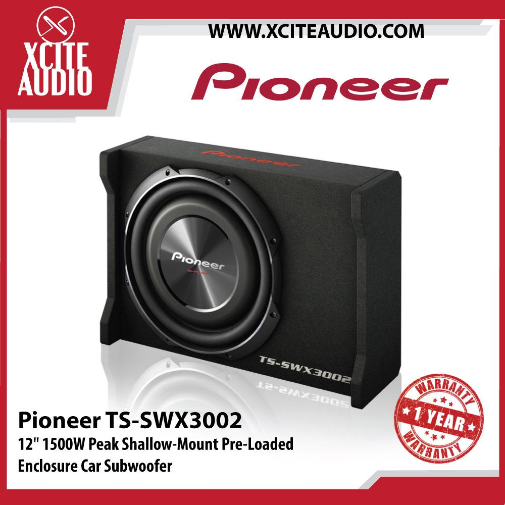 Pioneer TS-SWX3002 12  1500W Peak Shallow-Mount Pre-Loaded Enclosure Car Subwoofer