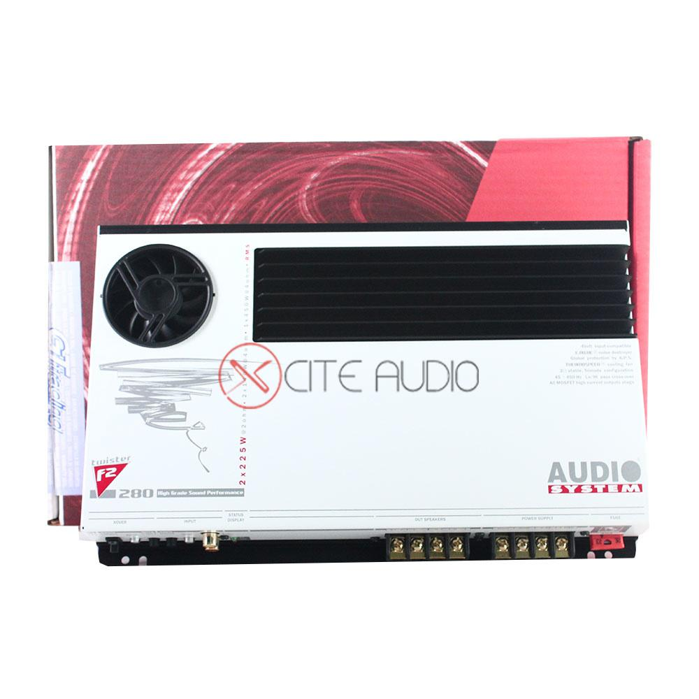Audio System F2-280 Twister Series High Grade Sound Performance 280W 2-Channel Car Amplifier