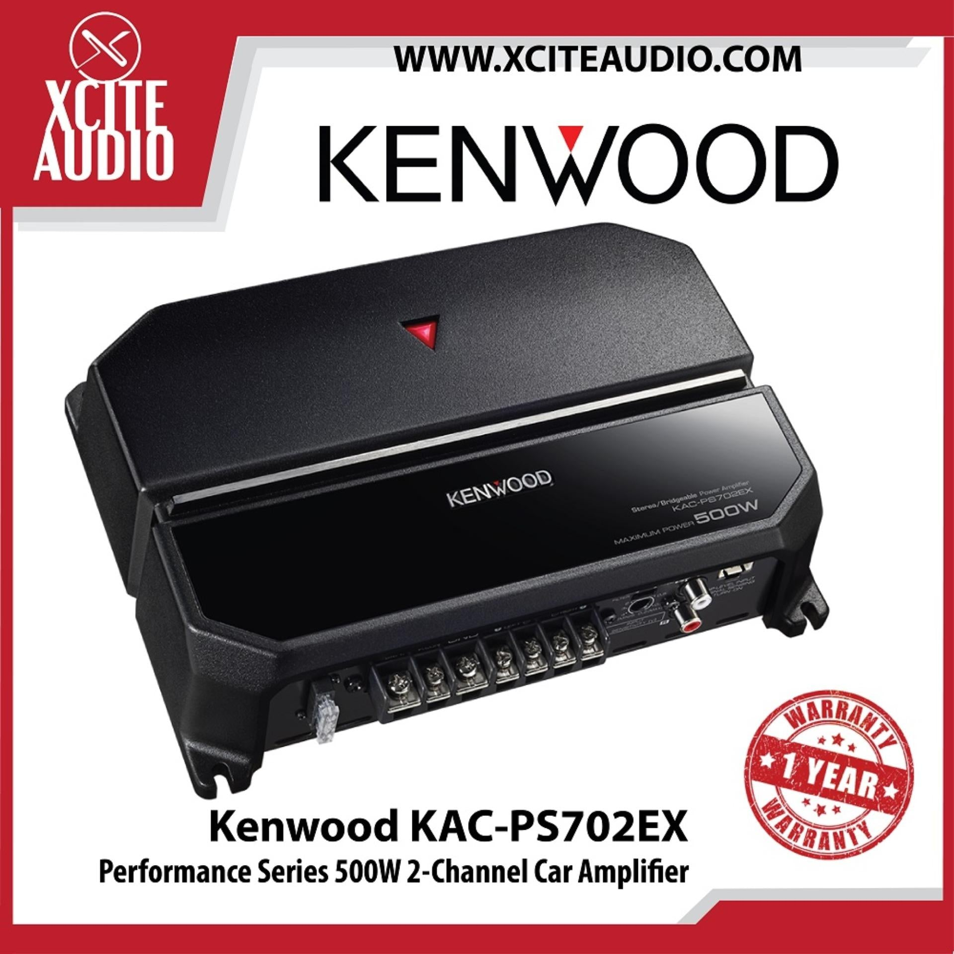 Kenwood KAC-PS702EX Performance Series 500W 2-Channel Car Amplifier