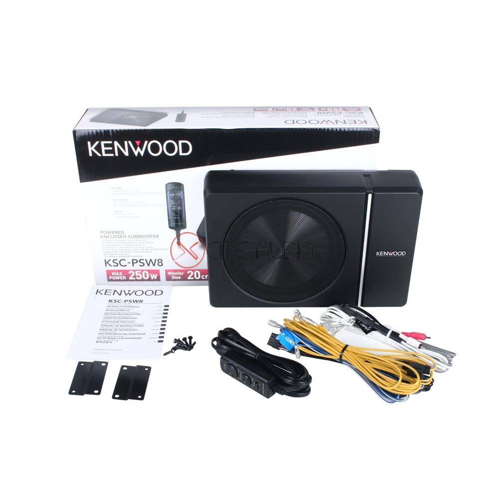 "Kenwood KSC-PSW8 8"" 250W Powered Subwoofer Enclosure With Remote Active Car Subwoofer"