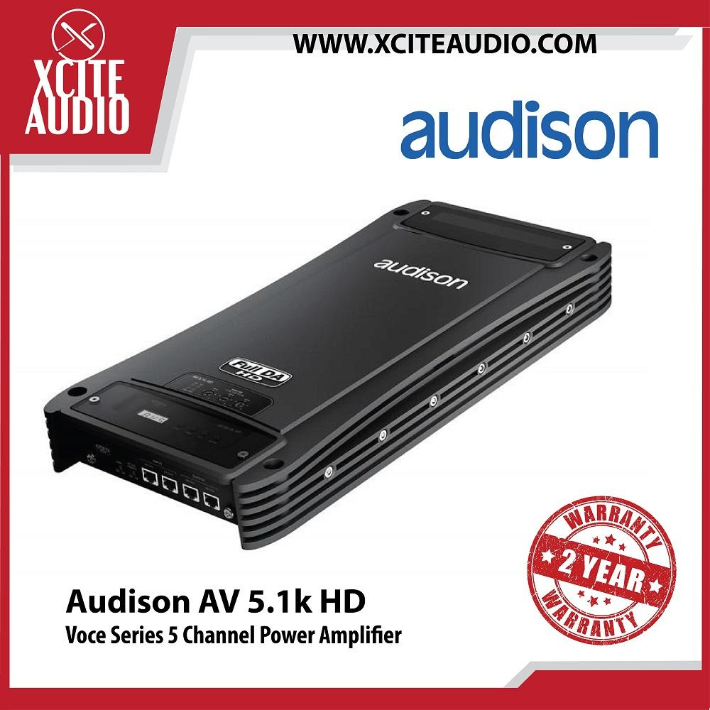 Audison Voce Series AV 5.1k HD 5 Channel Power Car Amplifier