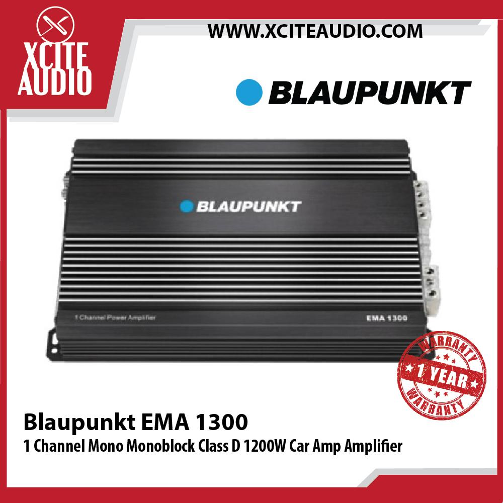Blaupunkt EMA 1300 1 Channel Mono Monoblock Class D 1200W Car Amp Amplifier