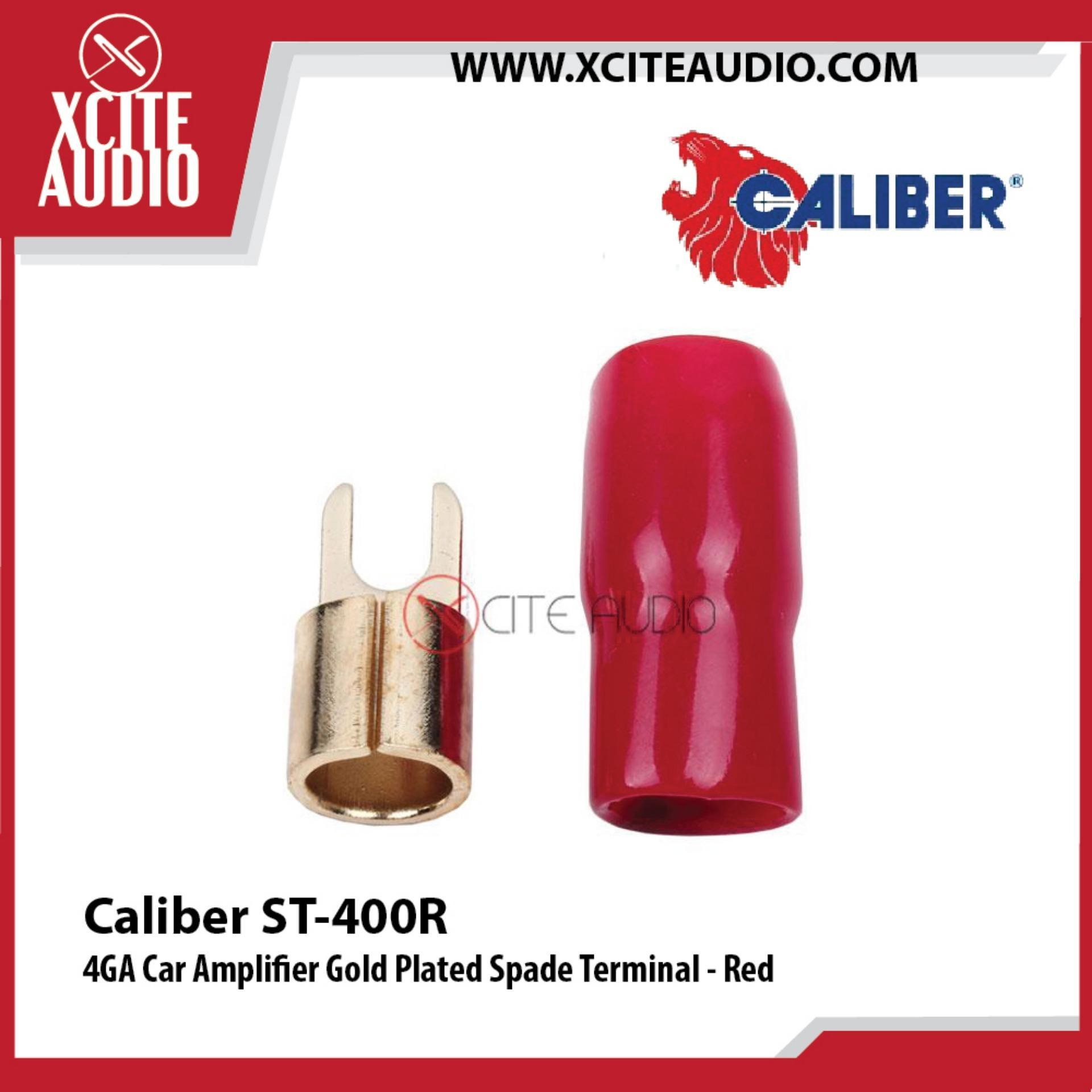 Caliber ST-400R 4GA Car Amplifier Gold Plated Spade Terminal - Red - Xcite Audio