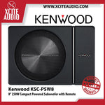 "Kenwood KSC-PSW8 8"" 250W Powered Subwoofer Enclosure With Remote Active Car Subwoofer - Xcite Audio"