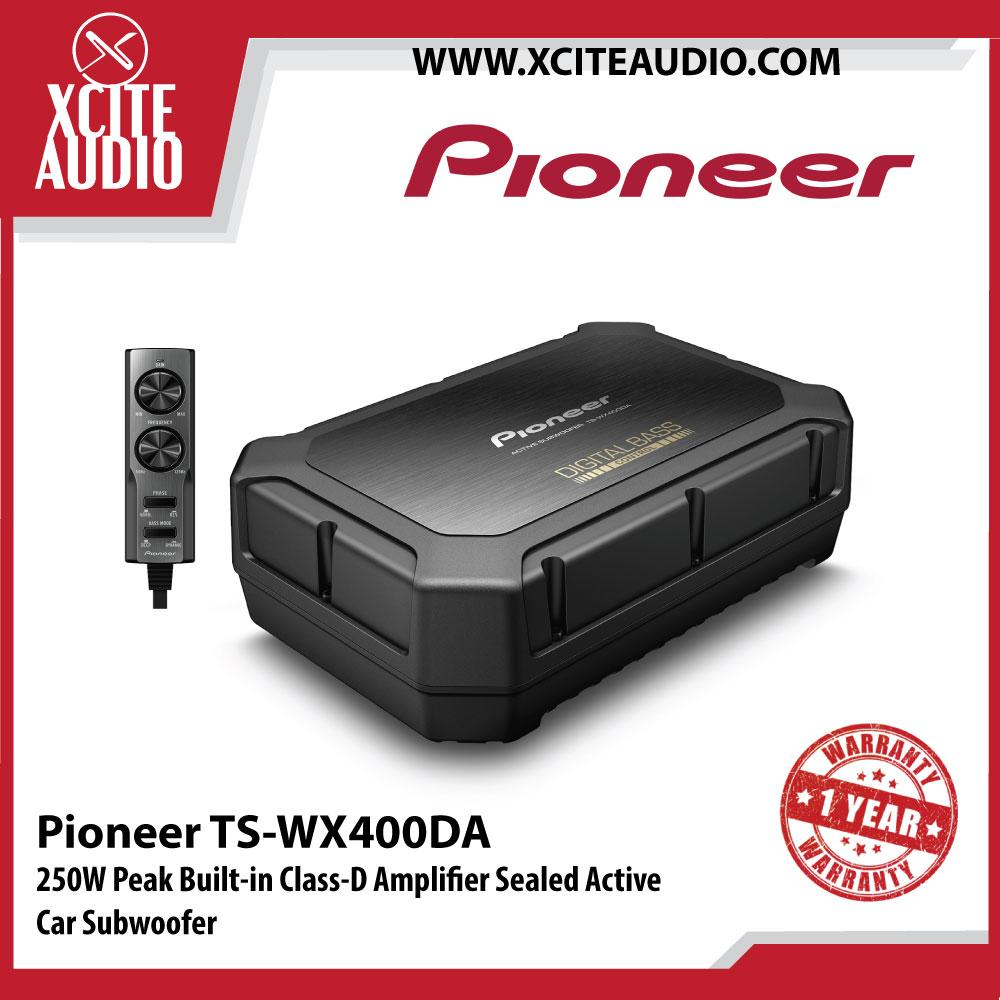 Pioneer TS-WX400DA 250W Peak Built-in Class-D Amplifier Sealed Active Car Subwoofer