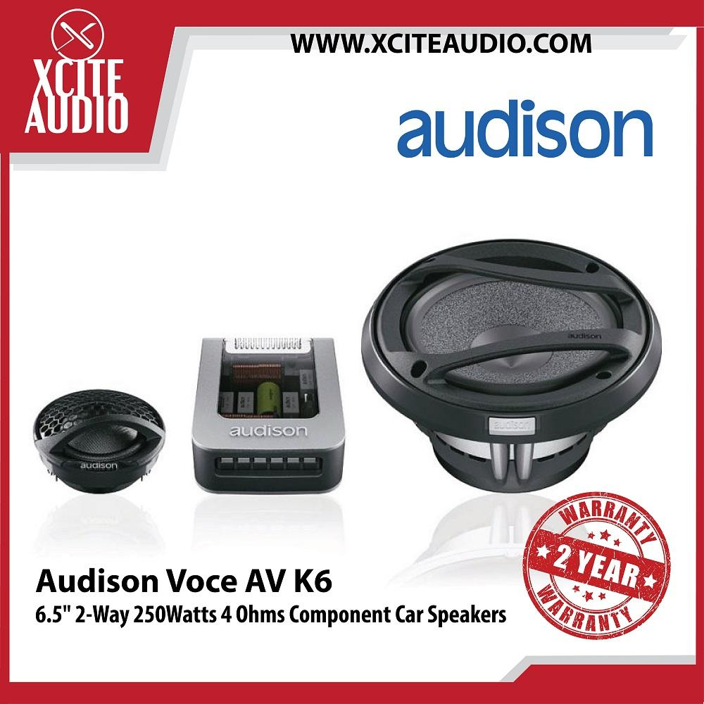 "Audison Voce AV K6 6.5"" 2-Way 250 Watts 4 Ohms Component Car Speakers - Xcite Audio"
