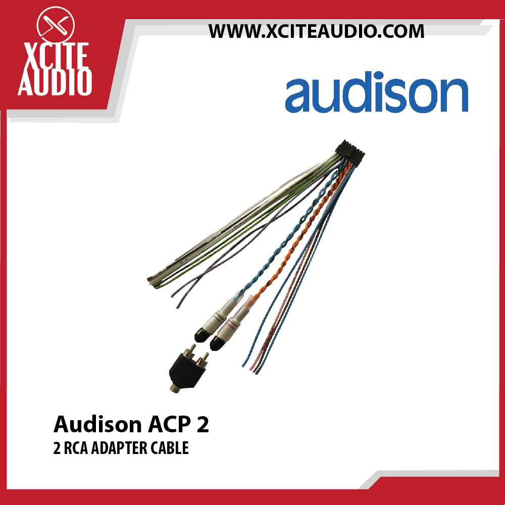 Audison ACP 2 2 RCA Adapter Cable for Prima AP bit Amplifier Connection - Xcite Audio