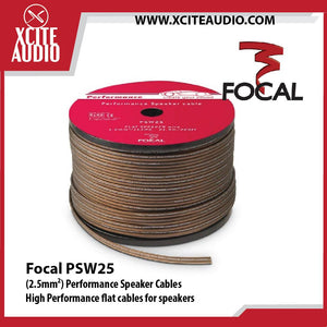 Focal Performance PSW25 High-performance Flat Speaker Cables - 1 Meter - Xcite Audio