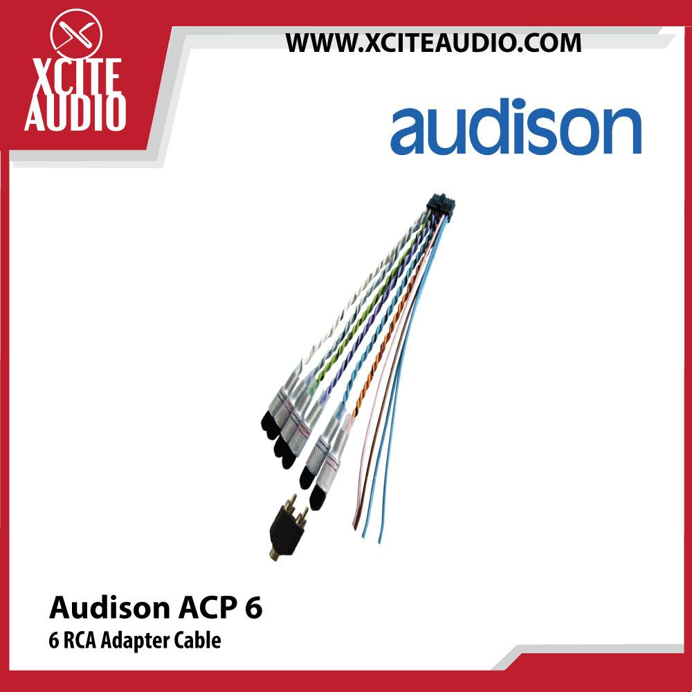 Audison ACP 6 6 RCA Adapter Cable for Prima AP bit Amplifier Connection - Xcite Audio
