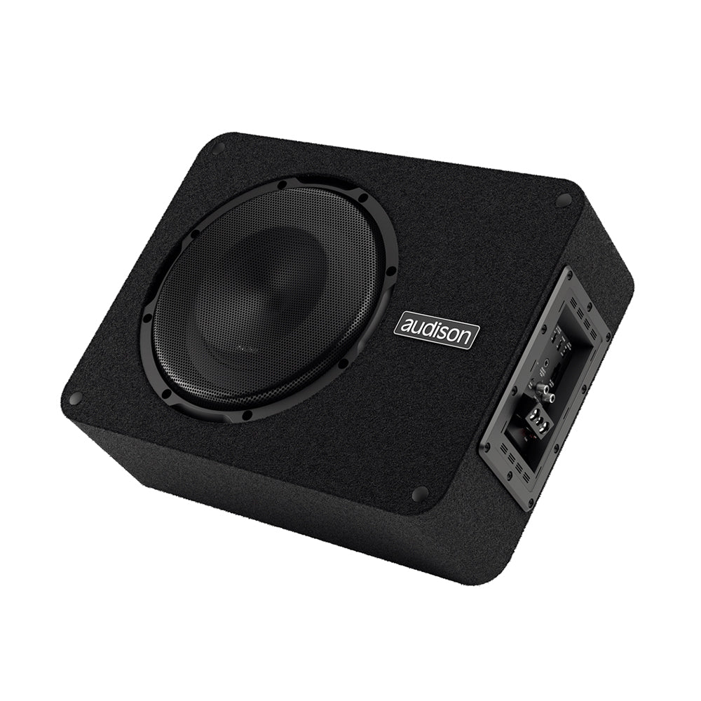 "Audison Prima Series APBX10AS2 10"" 800Watts Plug & Play Car Active Subwoofer Box - Xcite Audio"