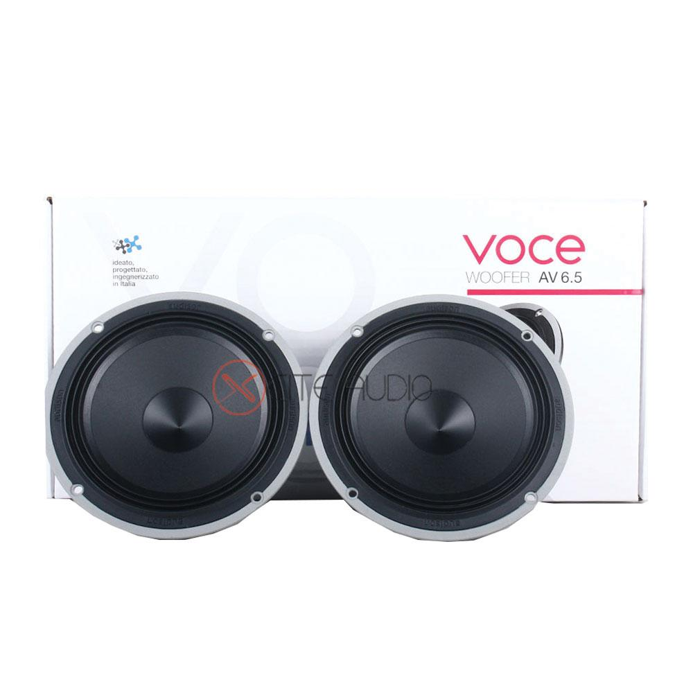 "Audison VOCE AV6.5 6.5"" 200Watts Midbass Woofer Car Speakers + Audison VOCE AV1.1 1 ⅛ Inch 180Watts Car Tweeters - Xcite Audio"