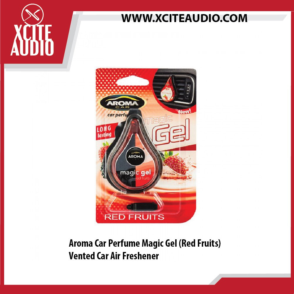 Aroma Car Perfume Magic Gel (Red Fruits) Car Air Freshener - Xcite Audio
