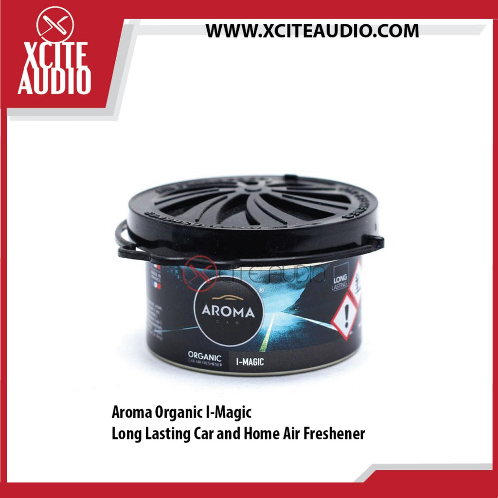1 x Aroma Car Organic I-Magic Long Lasting Car and Home Air Freshener - Xcite Audio