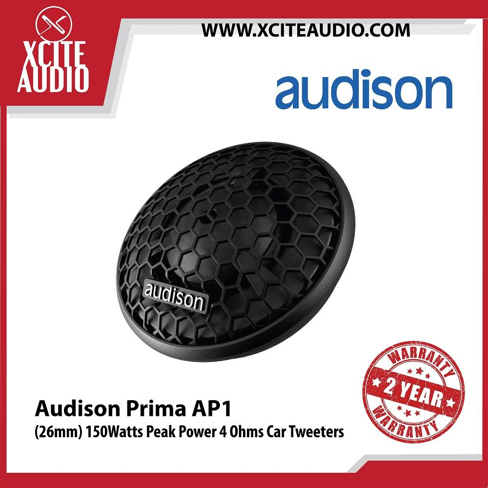 "Audison Prima AP1 1"" (26mm) 150Watts Peak Power 4 Ohms Car Audio Tweeters - Xcite Audio"