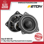 "Eton B100XCN 4"" 50Watts 2-Way 4 Ohms Plug & Play Coaxial Center Car Speakers For BMW - Xcite Audio"