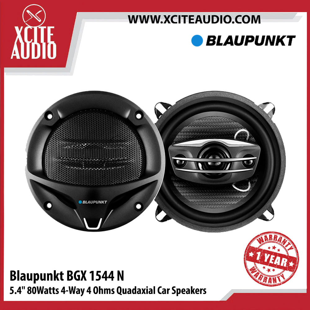 "Blaupunkt BGX 1544 N 5.4"" 80Watts 4-Way 4-Ohms Quadaxial Car Speakers - Xcite Audio"