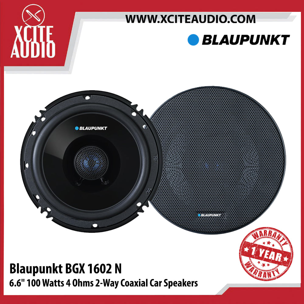 "Blaupunkt BGX 1602 N 6.6"" 100 Watts 4 Ohms 2-Way Coaxial Car Speakers - Xcite Audio"