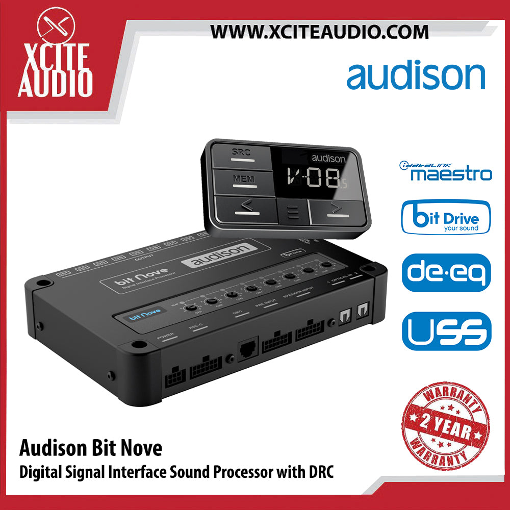 Audison Bit Nove DRC Digital Signal Interface Processor Car Sound Processor with Remote Control - Xcite Audio