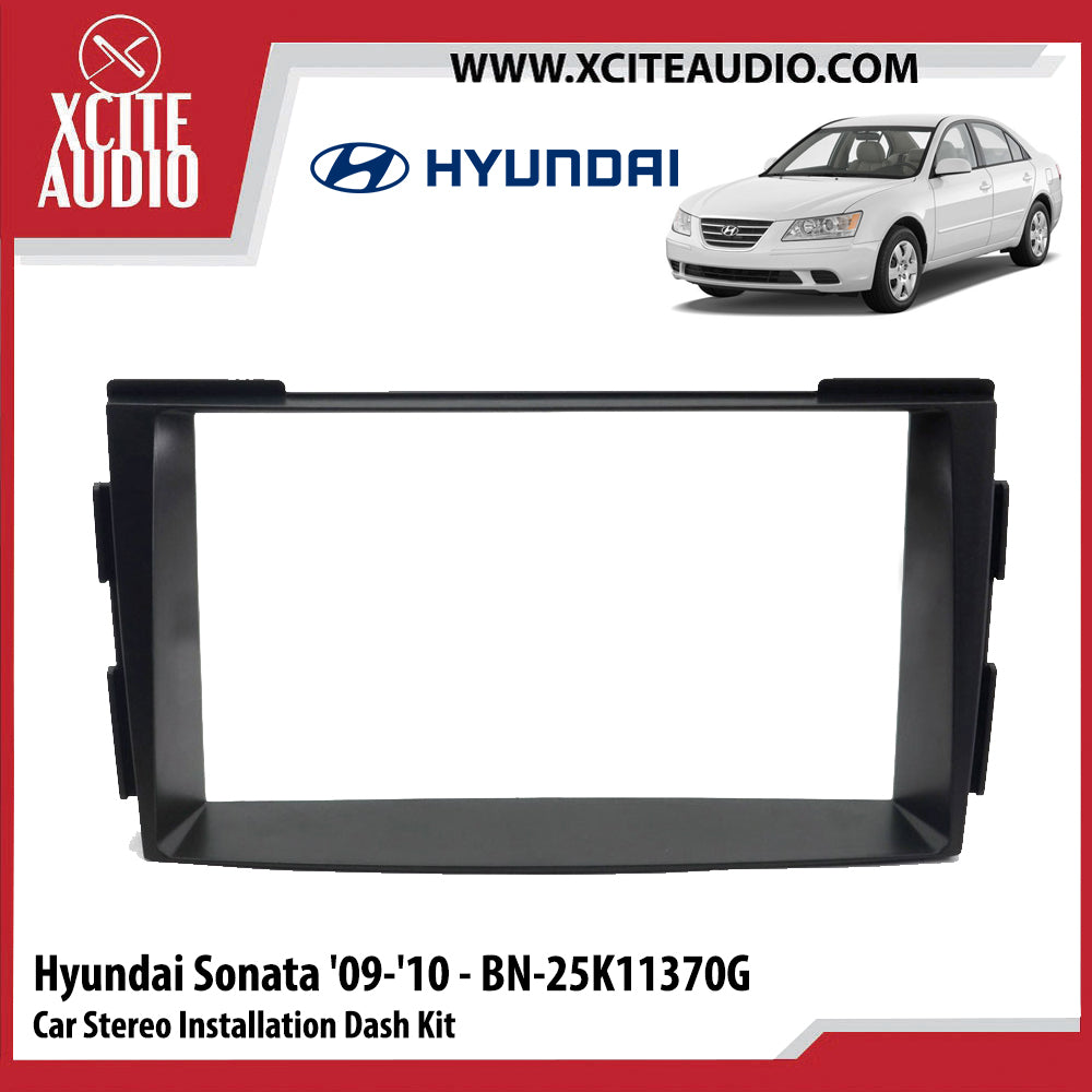 Hyundai Sonata 2009-2010 BN-25K11370G Double-Din Car Stereo Installation Dash Kit Fascia Kit Car Player Headunit Casing - Xcite Audio