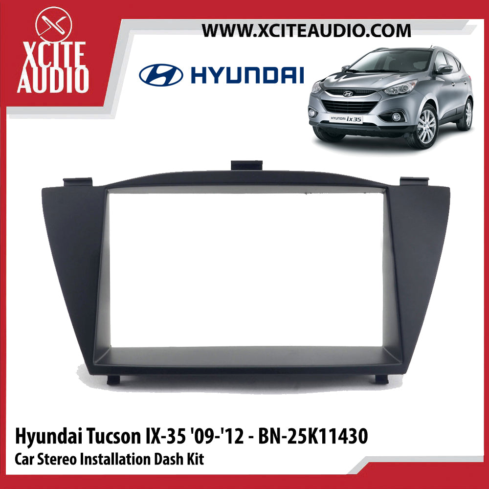 Hyundai Tucson IX-35 2009-2012 BN-25K11430 Double-Din Car Stereo Installation Dash Kit Fascia Kit Car Player Headunit Casing - Xcite Audio