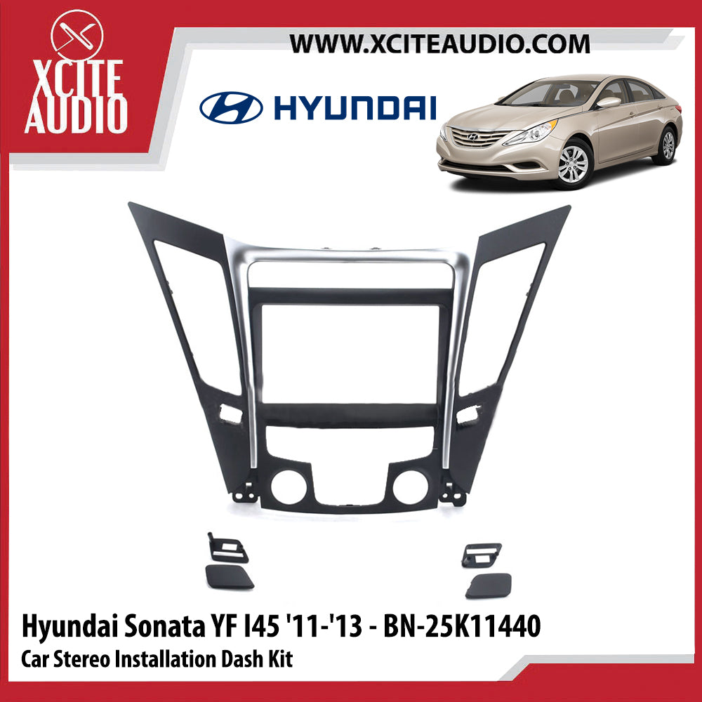 Hyundai Sonata YF i45 2011-2013 BN-25K11440 Double-Din Car Stereo Installation Dash Kit Fascia Kit Car Player Headunit Casing - Xcite Audio