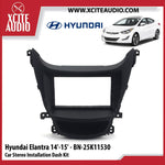 Hyundai Elantra 2014-2015 BN-25K11530 Double-Din Car Stereo Installation Dash Kit Fascia Kit Car Player Headunit Casing - Xcite Audio