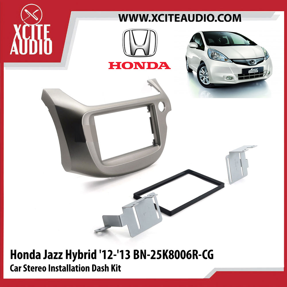 Honda Jazz Hybrid 2012-2013 BN-25K8006R-CG Double-Din Car Stereo Installation Dash Kit Fascia Kit Car Player Casing Mounting Kit - Xcite Audio
