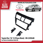 Toyota Vios 2010-2012 BN-25K964B (Piano Black) Double-Din Car Stereo Installation Dash Kit Fascia Kit Car Player Casing Mounting Kit - Xcite Audio