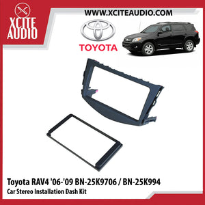 Toyota Rav4 2006-2009 BN-25K9706 / BN-25K994 Double-Din Car Stereo Installation Dash Kit Fascia Kit Car Player Casing Mounting Kit - Xcite Audio