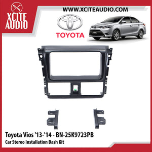Toyota Vios 2013-2014 BN-25K9723PB Double-Din Car Stereo Installation Dash Kit Fascia Kit Car Player Casing Mounting Kit - Xcite Audio