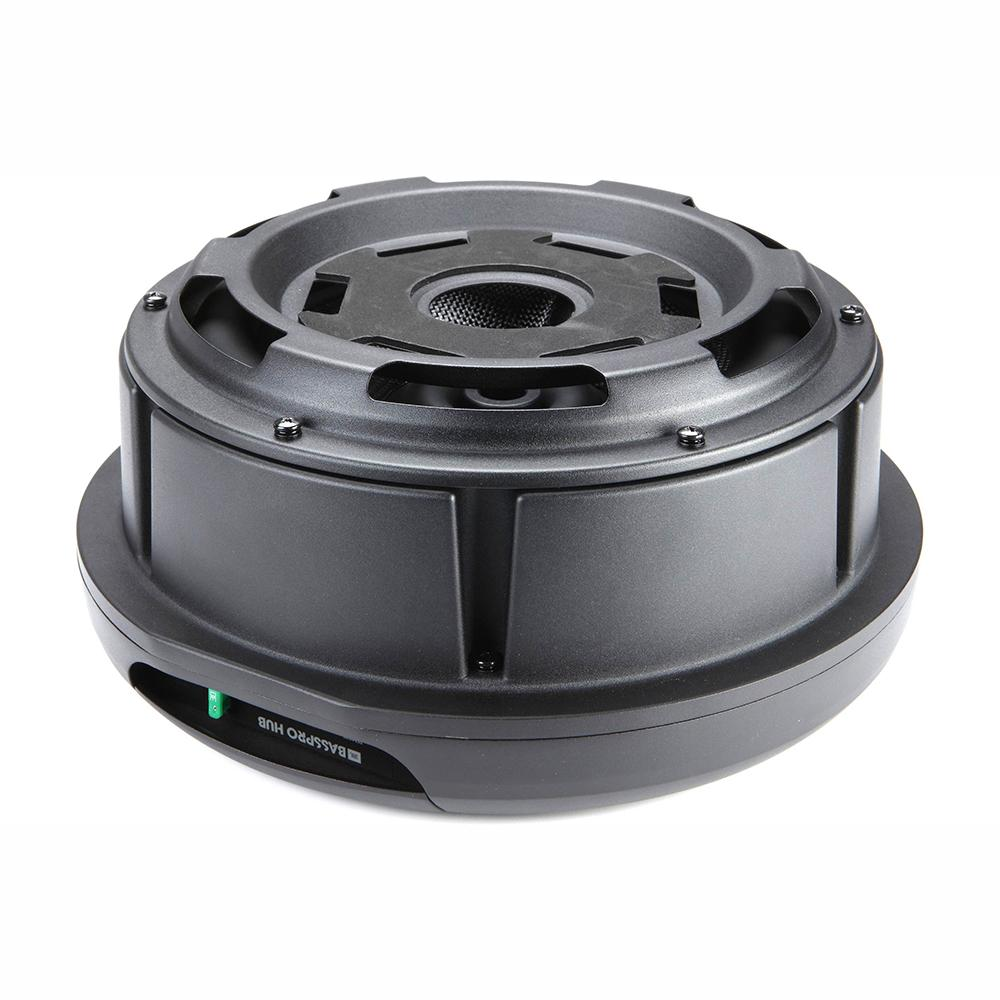 "JBL BassPro Hub 11"" Powered Spare Tire Subwoofer With Built-In 200W RMS Amplifier FOC Focal PK21 4AWG Wiring Install Kit - Xcite Audio"