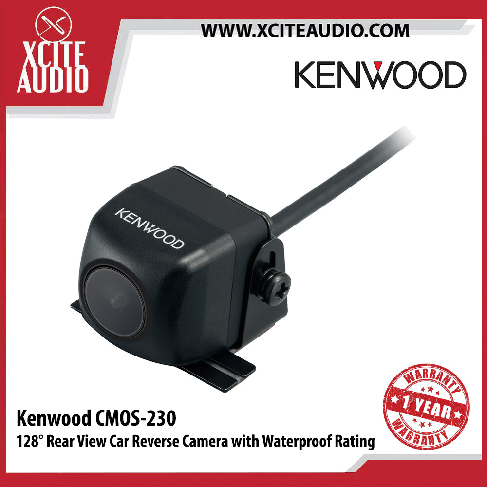 Kenwood CMOS-230 128° Rear View Car Reverse Camera With Waterproof Rating Universal Backup Camera - Xcite Audio