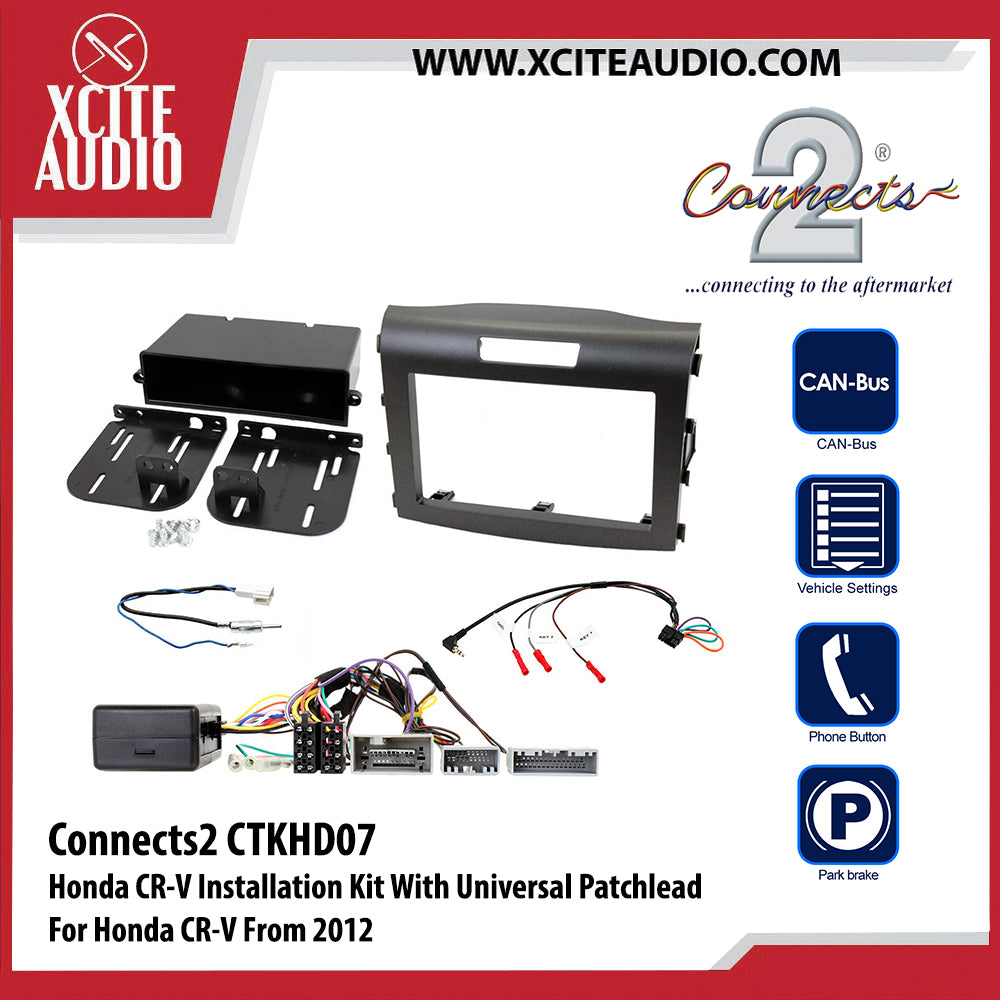 Connects2 CTKHD07 Installation Kit With Charcoal Double Din Fascia Plate For Honda CR-V - Xcite Audio