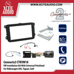 Connects2 CTKVW18 Installation Kit With Black Double Din Fascia Plate For Volkswagen EOS, Tiguan, Golf - Xcite Audio