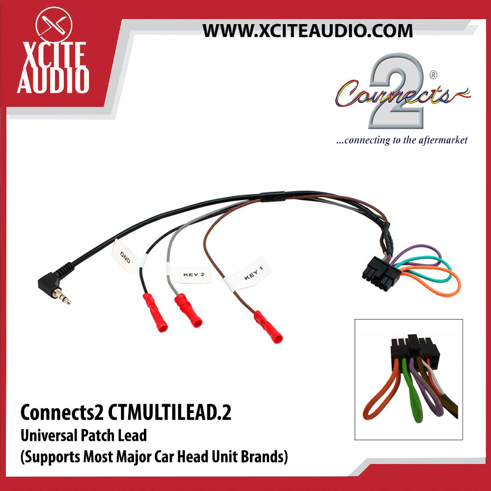 Connects2 CTMULTILEAD.2 Universal Patch Lead Car Head Unit Connection Lead - Xcite Audio