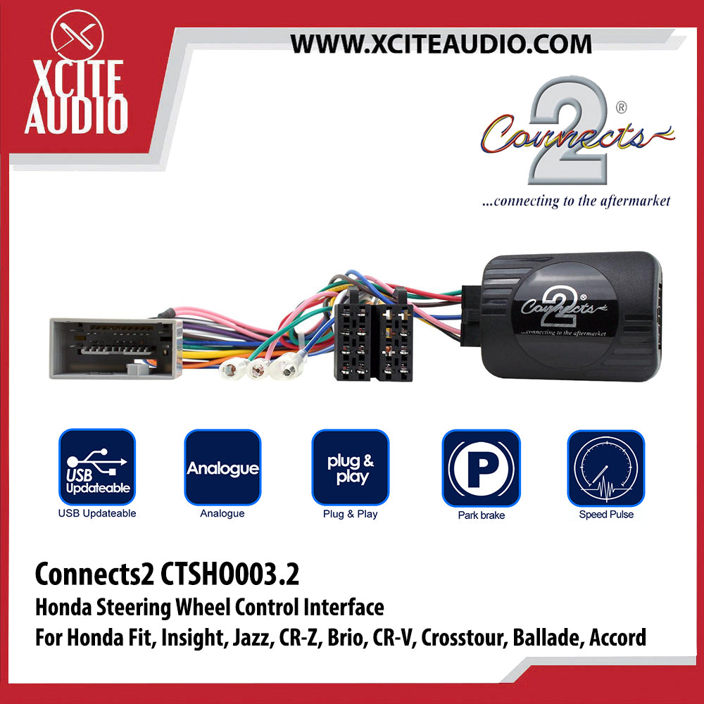 Connects2 CTSHO003.2 Steering Wheel Control Interface For Honda Fit, Insight, Jazz, CR-Z, Brio, CR-V, Crosstour, Ballade, Accord - Xcite Audio