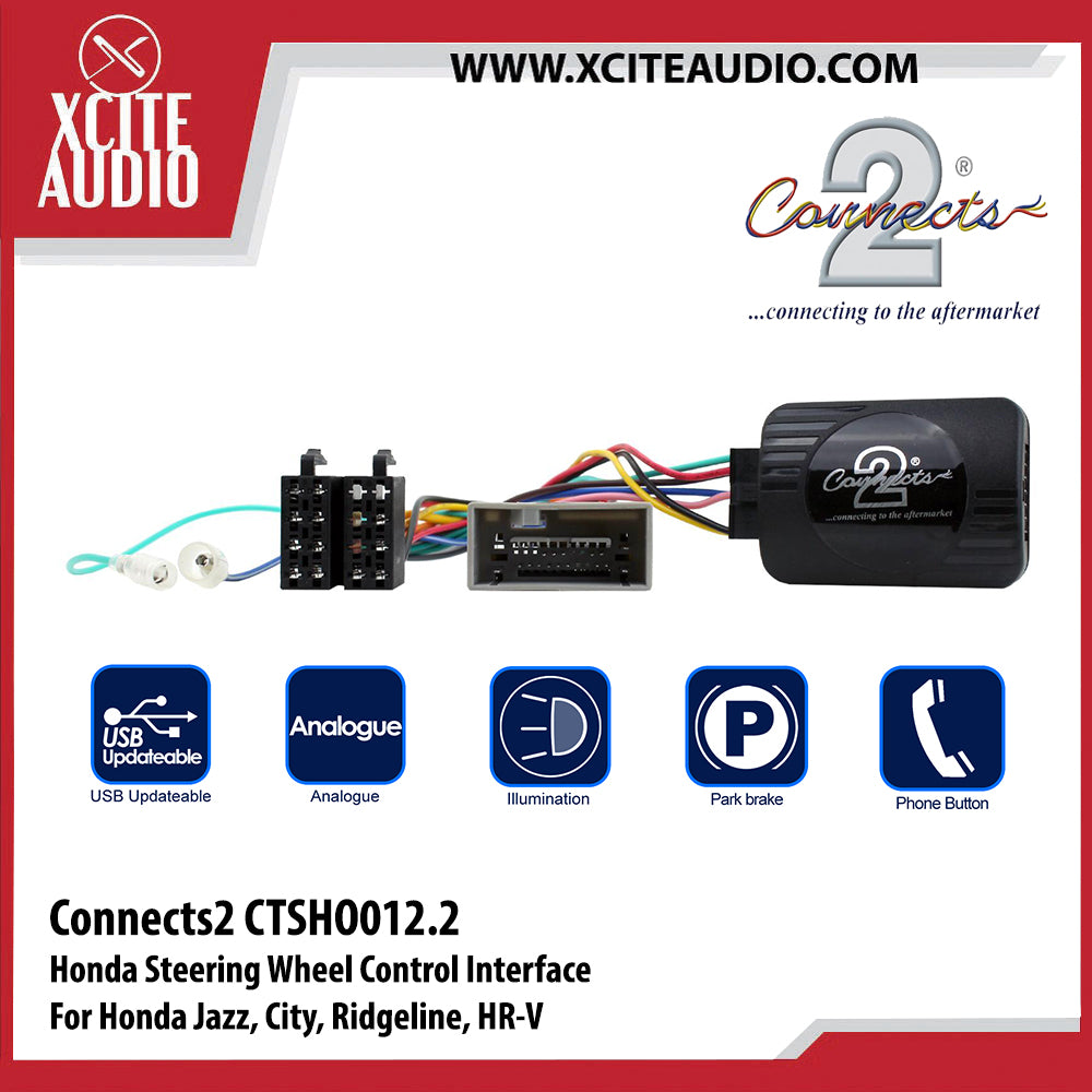 Connects2 CTSHO012.2 Steering Wheel Control Interface For Honda Jazz, City, Ridgeline, HR-V - Xcite Audio